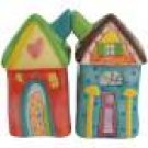 Life's Little Journey Houses With Love Magnetic Salt and Pepper Shakers