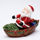 Christmas ~ Santa Row Boat Deliver Christmas Presents Salt and Pepper