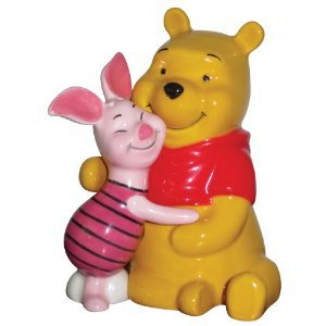 Life According to Eeyore~ Pooh and Piglet Hugging Magnetic Salt and Pepper