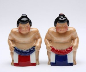 Sumo Wrestler Salt and Pepper