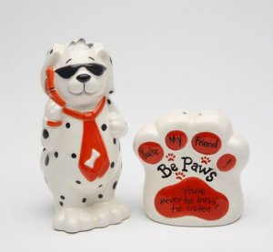 Dog Be Paws You're My Friend & Never Too Busy to Listen Salt and Pepper