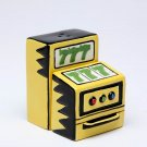 Yellow Slot Machine Showing Lucky Sevens Salt And Pepper Shakers