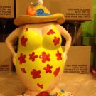 Lady wearing Swimsuit, hat and Sandal Cookie Jar