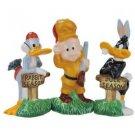Looney Tune Elmer Fudd, Bugs Bunny and Daffy Duck Hunting Season Salt and Pepper