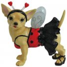 Aye Chihuahua Dog Figurine Ladybug Style