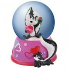 Looney Tunes Pepe Le Pew and Penelope Hearts 45 MM Water Globe Home Decor
