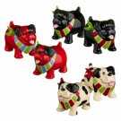 Magnetic Cute Dog Couple Wearing Scarf Salt & Pepper Shaker (1 Set)