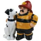 Best Friend Fireman and Dalmation Dog Salt and Pepper