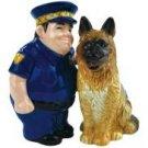 Best Friend Policeman and German Shepard Dog Salt and Pepper