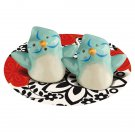 Mini Light Blue Bird Couple Salt and Pepper