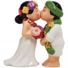 Hawaiian Bride Groom Wedding Couple Salt and Pepper