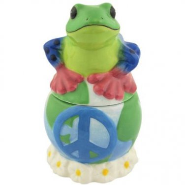 Peace Frogs Peace on Earth Frogs 4-Inch Magnetic Salt and Pepper Shakers