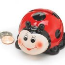 Cute Mini Polka Dot Ladybug Coin Bank Home Decor