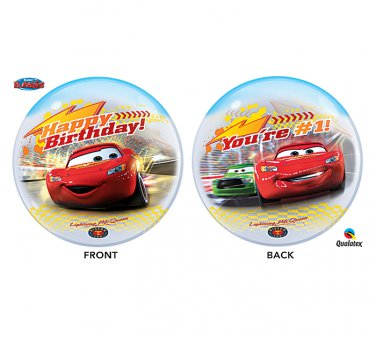 "Disney Happy Birthday 22"" Lightning McQueen Car Bubble Balloon"