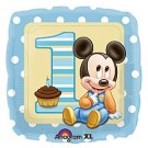 Disney Mickey Mouse 1st Birthday 18&quot; Foil Balloon Party Accessory