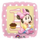 "Disney Minnie Mouse 1st Birthday 18"" Foil Balloon Party Supply"