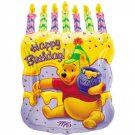 "Disney Winnie The Pooh Happy Birthday Cake Shaped 23"" Mylar Balloon Party Supply"