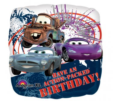 """Disney An Action Packed Birthday Cars 17"""" Foil Balloon Party Supply"""