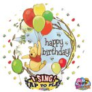 "Disney Happy Birthday Winnie The Pooh Sing A Tune 28"" Foil Balloon Party Supply"