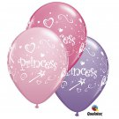 "Princess 11"" Qualatex 10 Balloon pink, rose and spring lilac Party Supply"