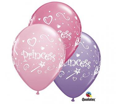 "Princess 11"" Qualatex 10 Balloon pink, rose and spring lilac Party Supply"