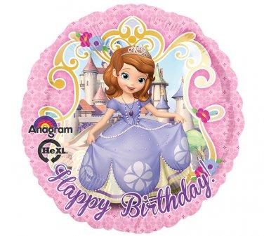 "Disney Princess Sofia The First 17"" Happy Birthday Balloon Party Supply"