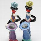 ANTHROPOMORPHIC Blue & Jazz Saxophones Salt and Pepper