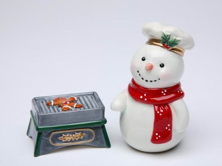 Christmas - Snowman Grill GingerBread Cookie Salt and Pepper