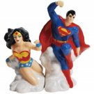 DC Comics Superman and Wonder Woman Magnetic Salt and Pepper Shaker Set