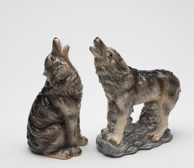 Howling Wolf Salt and Pepper