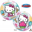 "Hello Kitty Happy Birthday 22"" Bubble Balloon Party Supply"