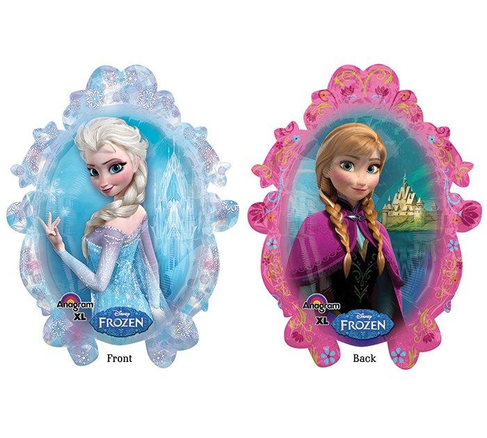 """Disney Frozen Princess Anna and Elsa 31"""" Foil Balloon Party Supply"""