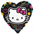 "Hello Kitty Happy Birthday Heart Shaped 17"" Balloon Party Supply"