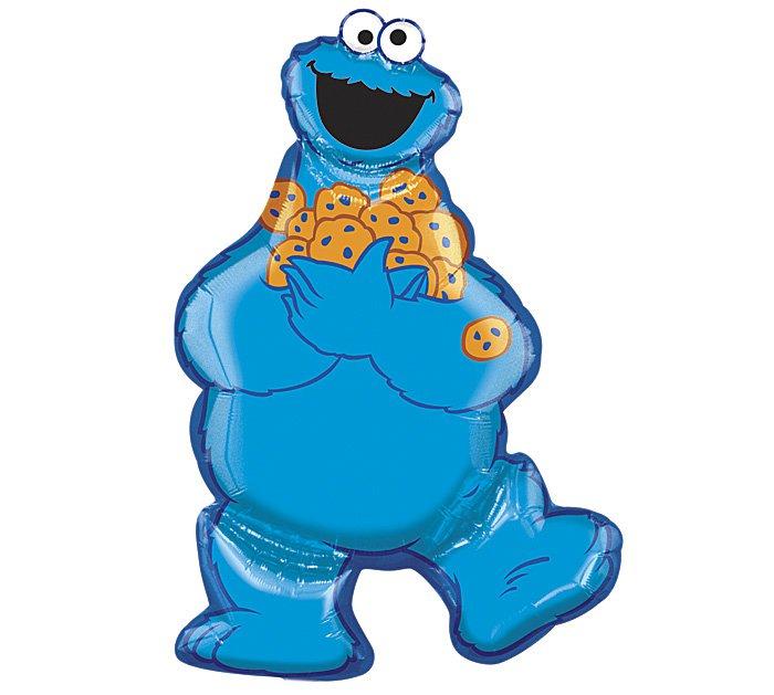 "Sesame Street Monster Cookie Full Body 31"" Foil Balloon Party Supply"