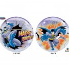 "Superhero Batman Happy Birthday 22"" Bubble Balloon Party Supply"