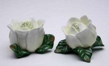 Magnolia Flower Salt and Pepper