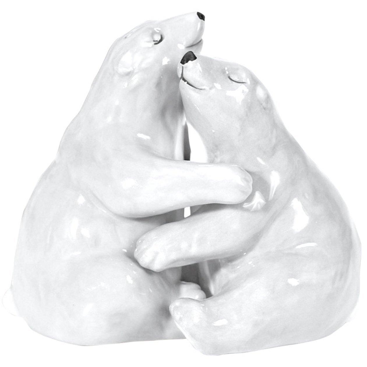 MWAH HUGGING POLAR BEAR COUPLE Salt and Pepper