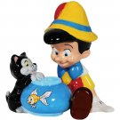Pinocchio and Figaro The Cat Salt and Pepper Shakers Kitchen Ware
