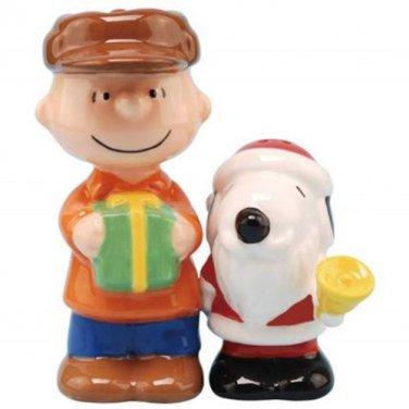Peanuts Santa Snoopy & Charlie Brown Salt & Pepper Shaker Kitchenware Home Decor