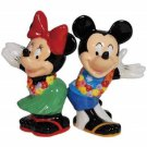 Mickey InspEARations Mickey and Minnie Hula Time Salt and Pepper Shaker