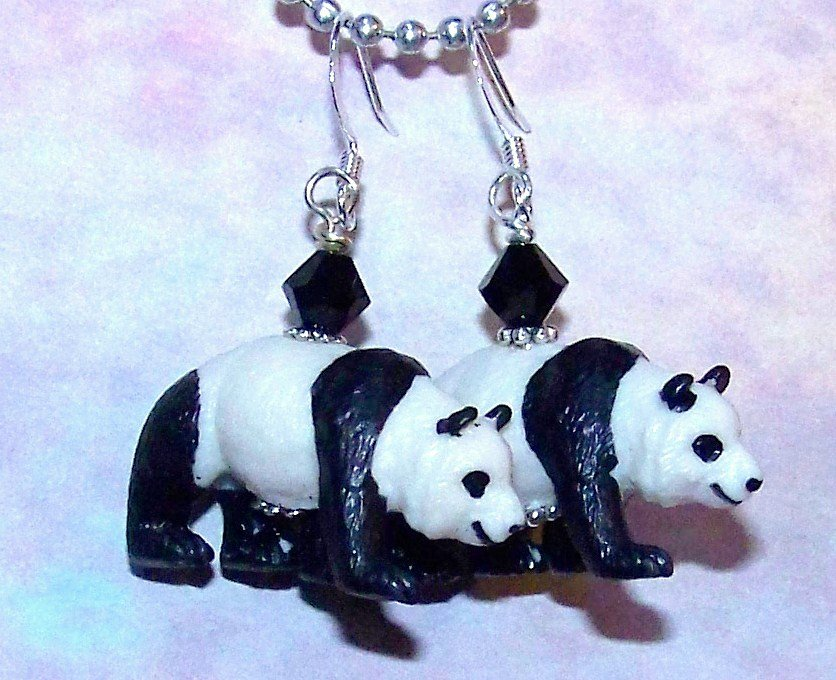 Chrissy's Black and White Panda Earrings