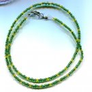 Green Seed Bead Necklace