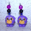 Purple Pug Earrings