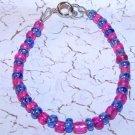 Pink and Blue Bracelet
