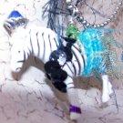 Blue Zebra Necklace