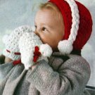 Crochet vintage baby cap and mittens PDF Pattern-012