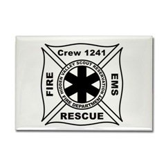crew Rectangle Magnet
