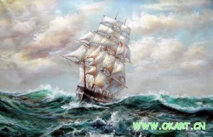 """oil painting (Boat and Sea-002 24""""*36)"""