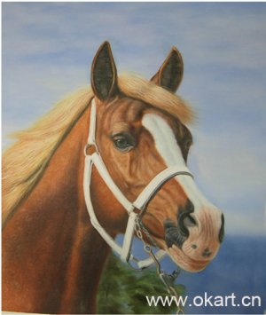 """oil painting (Horse 24""""*36)"""