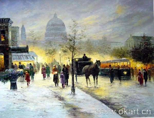 "oil painting (Streetscene-001 24""*36)"